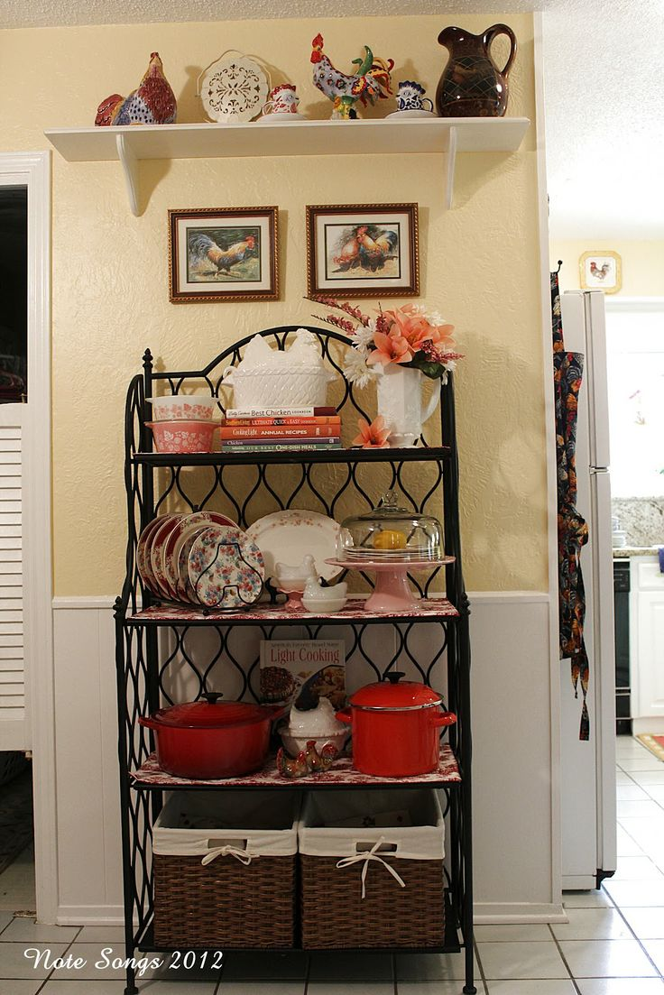 Decorating A Bakers Rack
