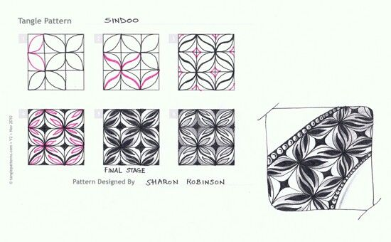 17 Best images about Zentangle grid patterns on Pinterest