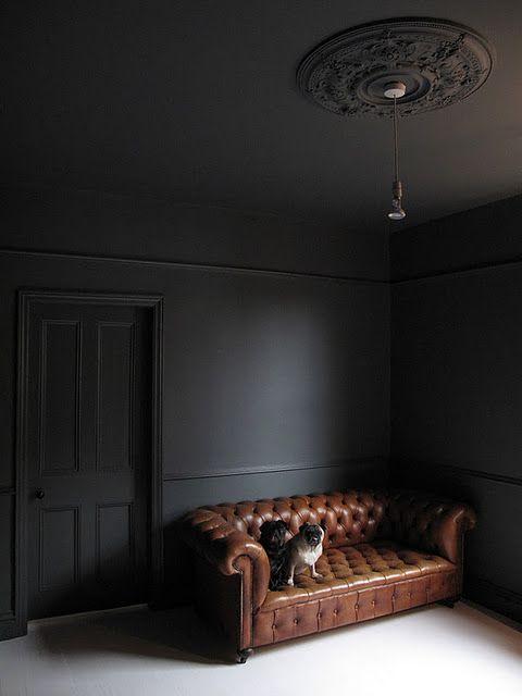 17 Best ideas about Dark Grey Walls on Pinterest
