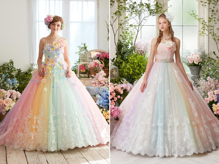 17 Best Ideas About Pastel Wedding Dresses On Pinterest