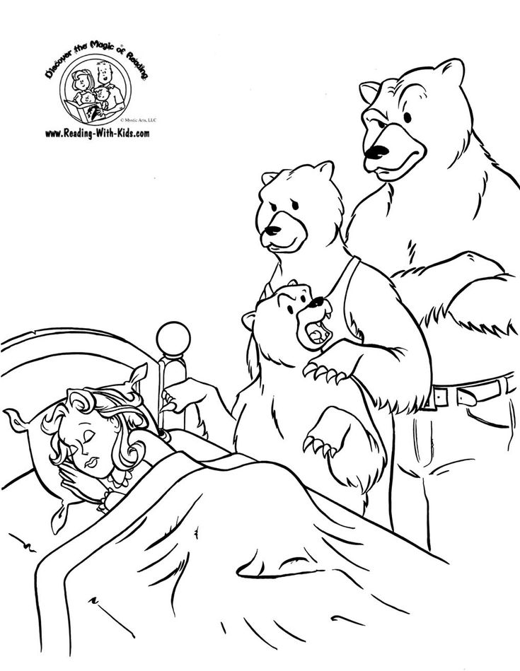 Goldilocks And The Three Bears Coloring Sheet #FairyTale #