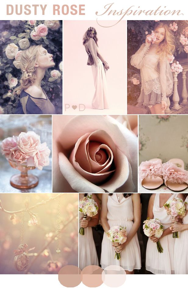 Dusty Rose dusky pink pale pink Wedding