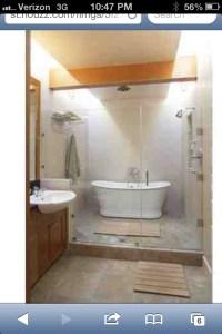 Freestanding tub in shower | Bath Design | Pinterest ...