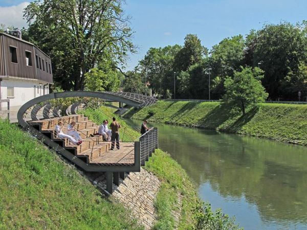 pavilion riverbank of ljubljanica