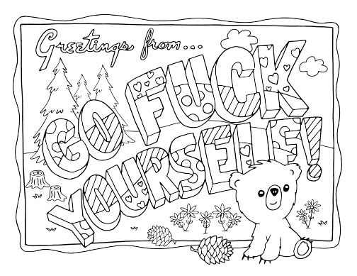 Adult Coloring Swear Words Coloring Pages
