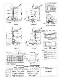 Concrete Block Retaining Wall Detail | Detail Drawings ...