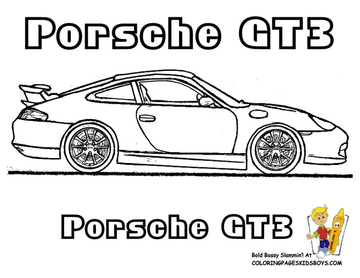 Porsche GT3 Car Coloring Pages You Can Print Out... http