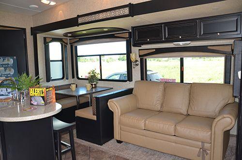 Silverado 36TBS 2013 Fifth Wheel RV Interior Dining Room