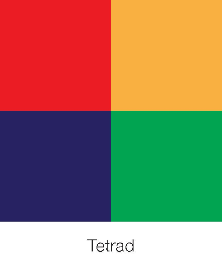 Tetrad Tetrad Colour Scheme Pinterest