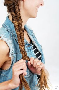 25+ best ideas about Herringbone braid on Pinterest   Side ...