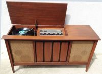 1960s Mid Century Modern Stereo Console SYLVANIA Record ...