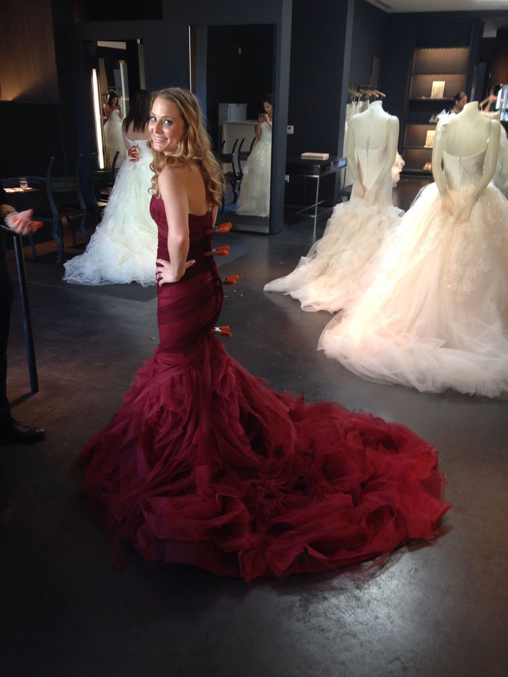 The Gemma Dress in red by Vera Wang
