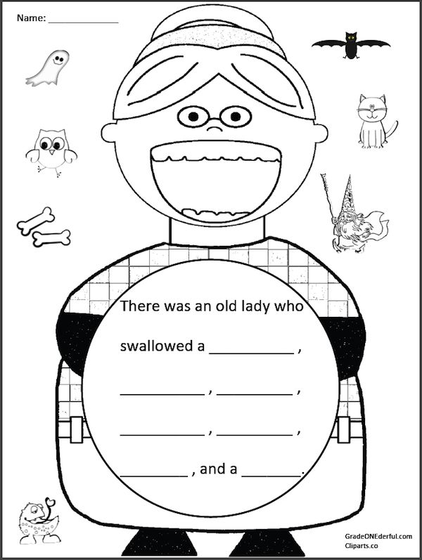 There Was an Old Lady Who Swallowed a Bat FREEBIE