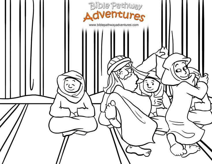 A coloring page for kids from the story, Escape from Egypt