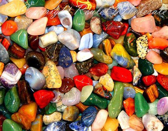 Tumbled Stone Wholesale Mixed Polished Crystal Mineral Gemstone Bulk Glass Moonstone Rocks