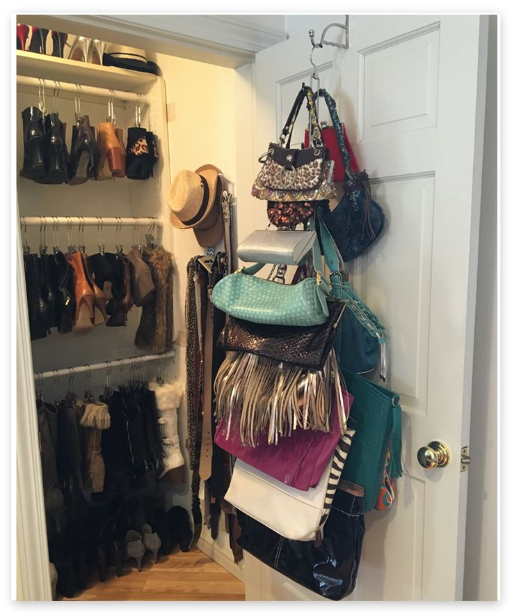 1000+ ideas about Purse Organizer Closet on Pinterest