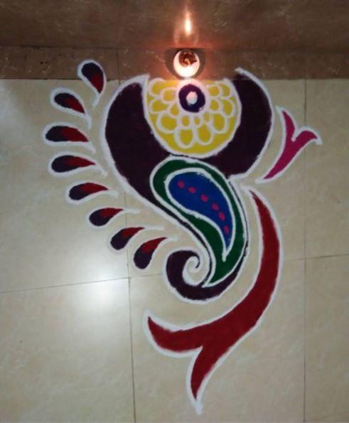 Simple Rangoli Designs For Home Rangoli Pinterest Home