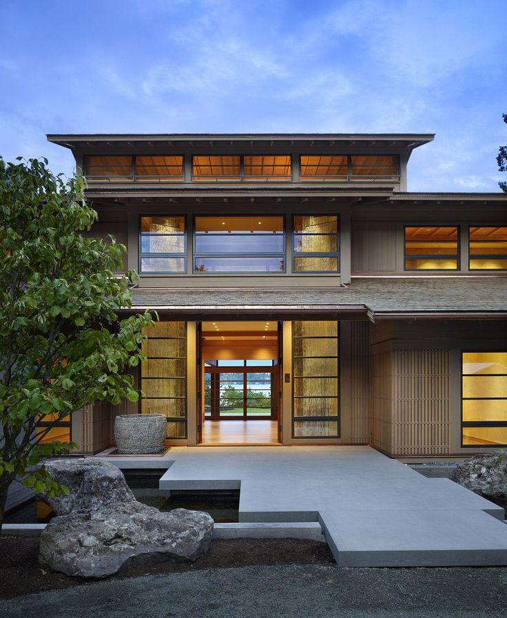 Architecture Exterior Simple Design Divine Modern Japanese House