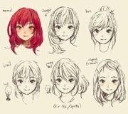 female manga anime hairstyles