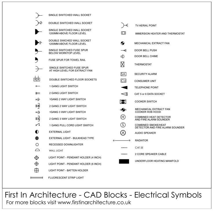 Emergency Lighting Wiring Diagram Free Cad Blocks Electrical Symbols First In
