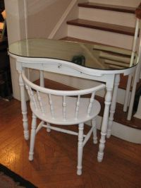 Vintage Kidney Shaped Vanity Dressing Table Desk with ...