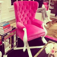 Hot pink upholstered chair | jeenistyle, Instagram ...