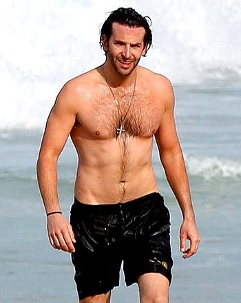 Shirtless Hunk! Bradley Cooper Shows Off Beach Body In Rio