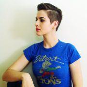 short haircut women. buzzed