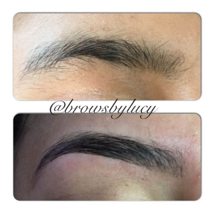 Amazing beforeafter of an eyebrow ironing planchado de