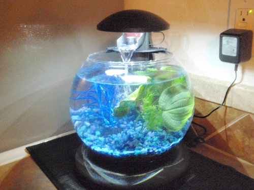 3 piece living room table set gray blue and tan tetra waterfall globe aquarium