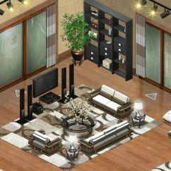 Beautiful Living Rooms At Christmas Art Deco Room Interior Design Beverly Hills   My Yoville / Yoworld ...
