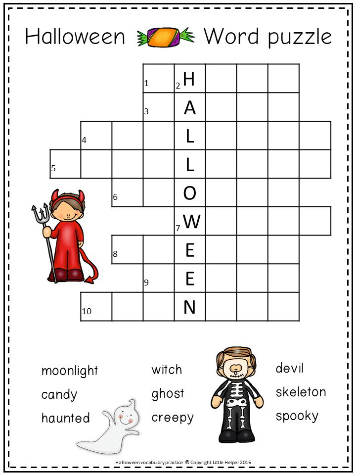 1000+ ideas about Halloween Crossword Puzzles on Pinterest