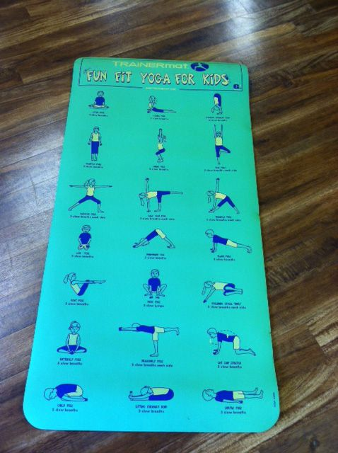 desk chair mat two wicker chairs and table trainer yoga with illustrated poses. #31007 | 29.95 pinterest trainers, ...