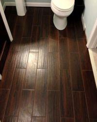 Tile that looks like wood. Wood-look tile. Bathroom floor ...