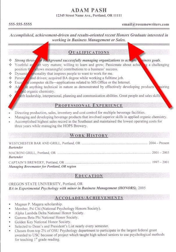 Example Of A Good Objective For A Resume - Examples of Resumes - objective sentence for resume