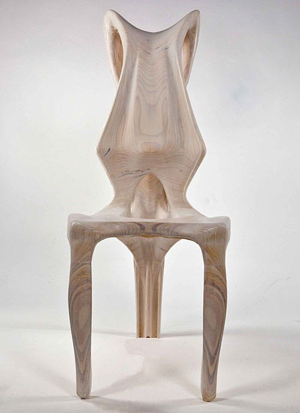 Exocarp Chair, Guillermo Bernal, chair design, biomimetic