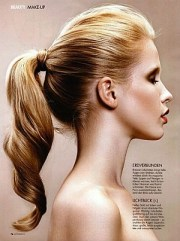fancy ponytail. homecoming hairstyle