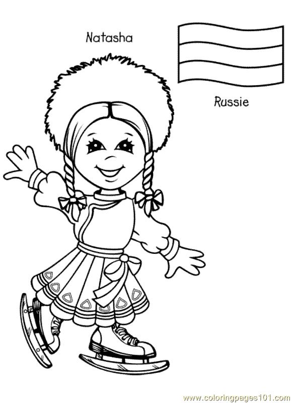 free printable coloring page Kids From Around The World