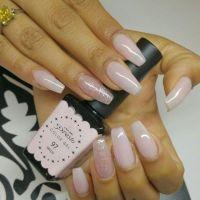 Another nails idea-Natural Pink long ballerina/coffin ...