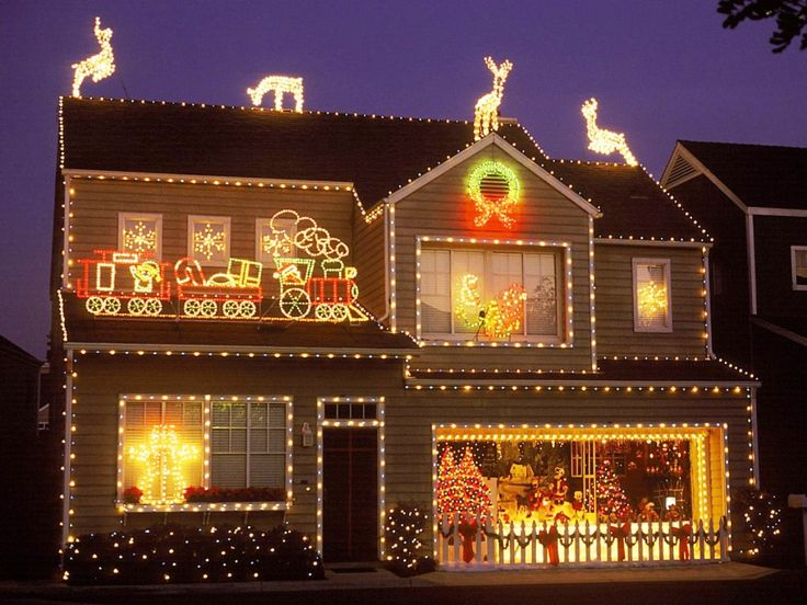 46 Best Images About Decorated Houses For Christmas On Pinterest