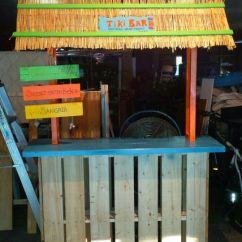 Beach Decor Ideas Living Room Rugs Singapore Tiki Bar! Two Wood Pallets, Scrap Lumber, Spray Paint ...