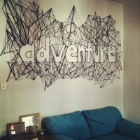 String art, String wall art and Negative space on Pinterest
