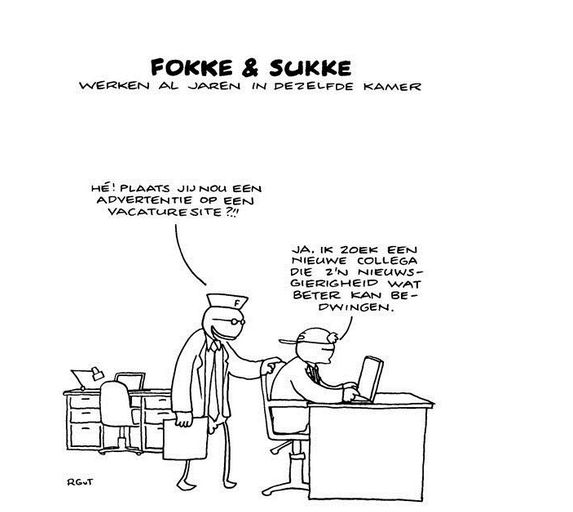 Fokke & Sukke werken al jaren in dezelfde kamer