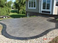 Slate patterned stamped concrete.   Deck/Patio Ideas ...