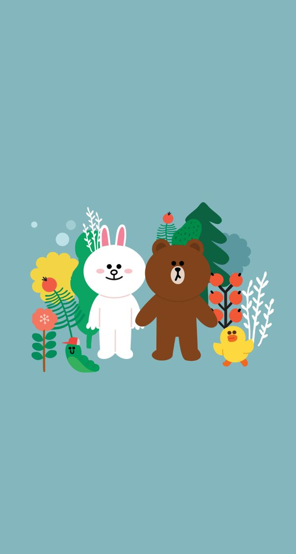 Cute Dating Phone Wallpaper Brown And Cony Brown And Cony Pinterest Brown And