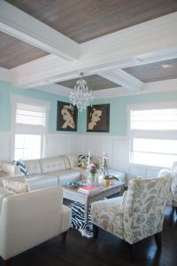 Coffered ceiling with wood inlay | Wild Heron Way ...