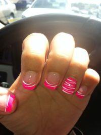 Cute pink zebra acrylic nails | Nails | Pinterest ...