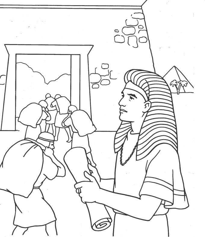 Joseph Interprets Pharaohs Dream Coloring Page Coloring Pages