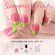 summer fruit nail art kawaii watermelon