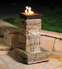 fire pit water fountain. Love these on the end caps. Check ...
